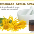 Una casera moretón árnica crema receta naturales