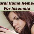 Los mejores remedios caseros naturales para el insomnio
