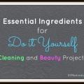 Ingredientes esenciales para la limpieza de bricolaje y la belleza