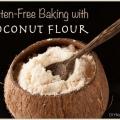 Hornear sin gluten con harina de coco y una receta de pan