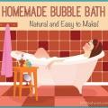Baño de burbujas casera sin todos los productos químicos