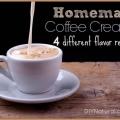 Hecho en casa cremas para café natural con sabor