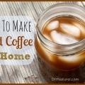 Como hacer cerveza helada café frío en casa