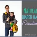 Esenciales bolsa de pañales naturales, mientras que en el ir