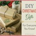Naturales regalos de la Navidad DIY para todos tus conocidos!