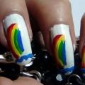 2 increíble Nail Rainbow Tutoriales Arte - Con Pasos detallados e imágenes