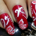 2 Tutoriales de Arte de uñas rojo increíble con pasos detallados