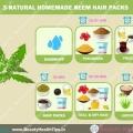 3-Naturales paquetes de pelo neem caseros