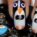 Increíble Pingüino Nail Art Tutorial Con Pasos y Cuadros detallados