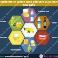 Beneficios de belleza de jugo de limón para el cuidado de la piel, cuidado del cabello, cuidado de las uñas