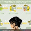 Los mejores paquetes de pelo henna caseras, mascarillas para el cabello para el cabello de aspecto natural