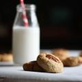 Las galletas de nuez de mantequilla
