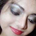Duos Smokey Eyes - oro y gris de ojos Tutorial de maquillaje con los pasos detallados y fotos