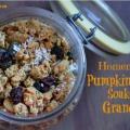 Calabaza casera receta de granola especias