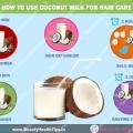 Cómo utilizar la leche de coco para el cuidado del cabello