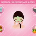 Recetas caseras faciales naturales de blanqueo para la cara