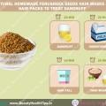Máscaras de semillas de alholva pelo caseros naturales y pelo paquetes para tratar la caspa