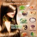 Top 10 superalimentos para la salud del cabello