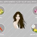 Top remedios caseros naturales para deshacerse de gris, el pelo blanco