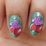 Nail verano Fimo Fruit Tutorial Arte