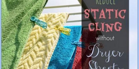 8 maneras naturales para reducir la estática en la lavandería