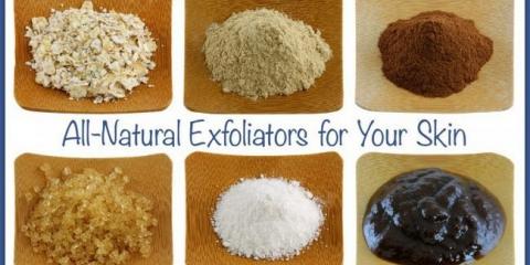 Una lista de los exfoliantes totalmente naturales simples para la piel