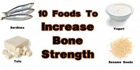 Los alimentos que le ayudarán a aumentar la resistencia ósea