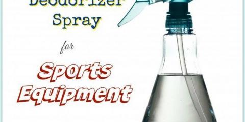 Aerosol desodorante casero para equipos deportivos