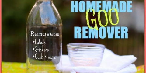 Adhesivos naturales hechos en casa y removedor goo