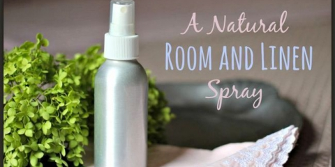Receta para la sala de aromaterapia y aerosol de lino