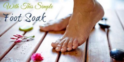 Amen a sus pies con este sencillo pies en remojo