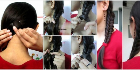 Side Swept Fish Braid Tutorial Con Fotos