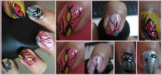 Nail Art Collections -5 mano libre del clavo Artes