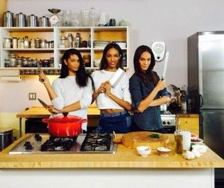 Jourdan Dunn Chanel Iman y Joan Smalls